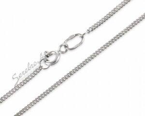 Тонкая панцирная цепочка из серебра с родированием,1,5мм