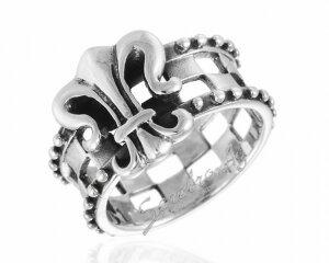 Перстень в средневековом стиле с геральдической символикой, серебро 925 пробы
