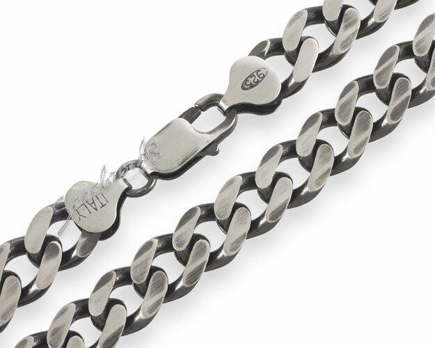 Серебряную цепочку мужскую плетения панцирное