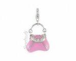 Розовая сумочка из серебра, вид спереди